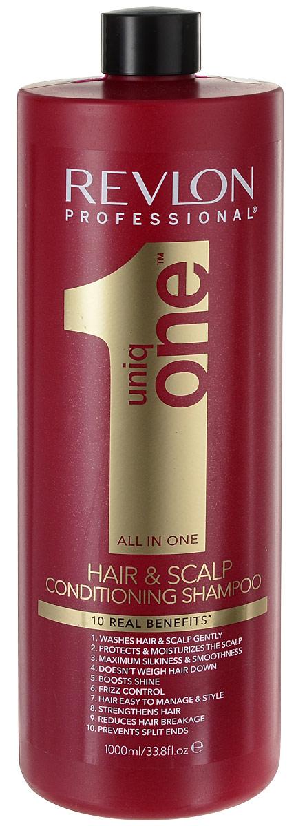 Uniq One Шампунь-кондиционер для волос 1000 мл (безсульфатный)AC-2233_серыйUniq One Conditioning Shampoo Шампунь кондиционер Уникальное средство сочетает в себе сразу 10 главных свойств, благодаря которым волосы за минимальное время станут невероятно сильными и здоровыми. Средство оказывает очищающий, увлажняющий и кондиционирующий уход не только на волосы, но и на кожу головы. При регулярном применении шампуня-кондиционера Uniq One волосы становятся невероятно мягкими и шелковистыми, приобретают великолепный здоровый блеск и восхитительное сияние. При использовании средства устраняется пушистость волос, их спутывание, облегчается расчёсывание. Позади остаётся и проблема секущихся кончиков. Волосы становятся крепкими, сильными и защищёнными от воздействия окружающей среды.Шампунь-кондиционер гарантирует получение максимального эффекта при минимальных усилиях и за короткое время. Средство не содержит сульфатов, парабенов и других вредных химических элементов.