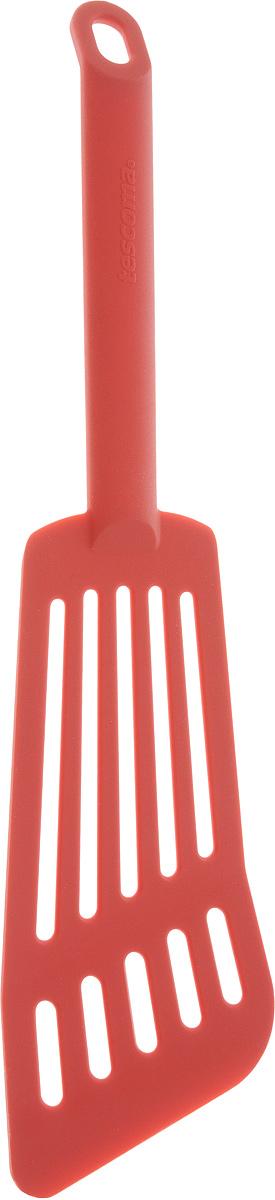 Лопатка для омлета Tescoma Space Tone, цвет: красный, длина 30 см391602Лопатка Tescoma Space Tone изготовлена из высококачественного термостойкого нейлона, выдерживающего температуру до 210°С, и предназначена для переворачивания и подачи омлета. Такая кухонная принадлежность подходит для всех видов посуды, а также для посуды с антипригарным покрытием. Лопатка Tescoma Space Tone станет вашим незаменимым помощником на кухне, а также это практичный и необходимый подарок любой хозяйке! Можно мыть в посудомоечной машине.Общая длина лопатки: 30 см. Размер рабочей поверхности: 16 х 7,5 см.