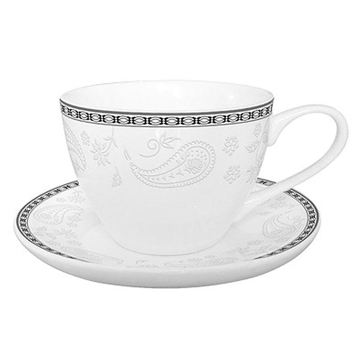 Набор чайный Esprado Arista White, 12 предметовVT-1520(SR)Чайный набор из костяного фарфора, 12 предметов – 6 чашек 315 мл и 6 блюдец 145 мм.Упаковка: наклейка Чайный набор на 6 персон (6 чашек 315 мл и 6 блюдец 14,5 см) из костяного фарфора, штрих-код на дне.На дне изделия штамп: Esprado Fine Bone Сhina со знаками использование в посудомоечной машине разрешено и использование в микроволновой печи разрешено.Внутренняя упаковка: подарочная цветная коробка, 12 штук в упаковке (6 чашек и 6 блюдец). Деколь как на эталонном образце.