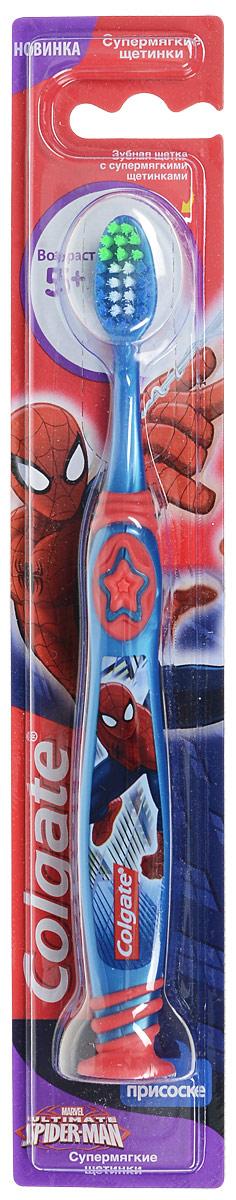 Colgate Зубная щетка Spider-man, детская, с мягкой щетиной, цвет: синий, красный7326_голубойColgate Зубная щетка Spider-man, детская, с мягкой щетиной, цвет: синий, красный