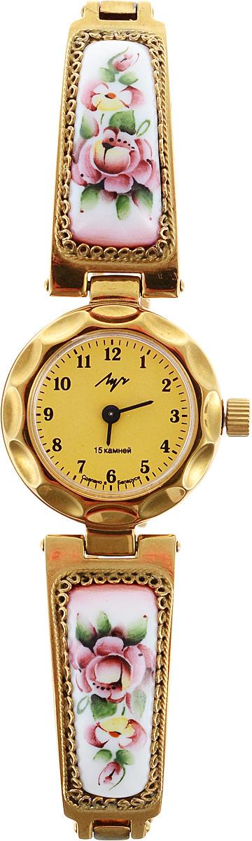 Часы наручные женские Луч Классическая коллекция, цвет: золотой. 81379515BM8434-58AEМодные часы Луч из Классической коллекции подчеркнут изящность женской руки и отменное чувство стиля у их обладательницы. Часы выполнены из керамики, металла и минерального стекла. Циферблат дополнен символикой бренда. Часы дополнены браслетом со складной застежкой.