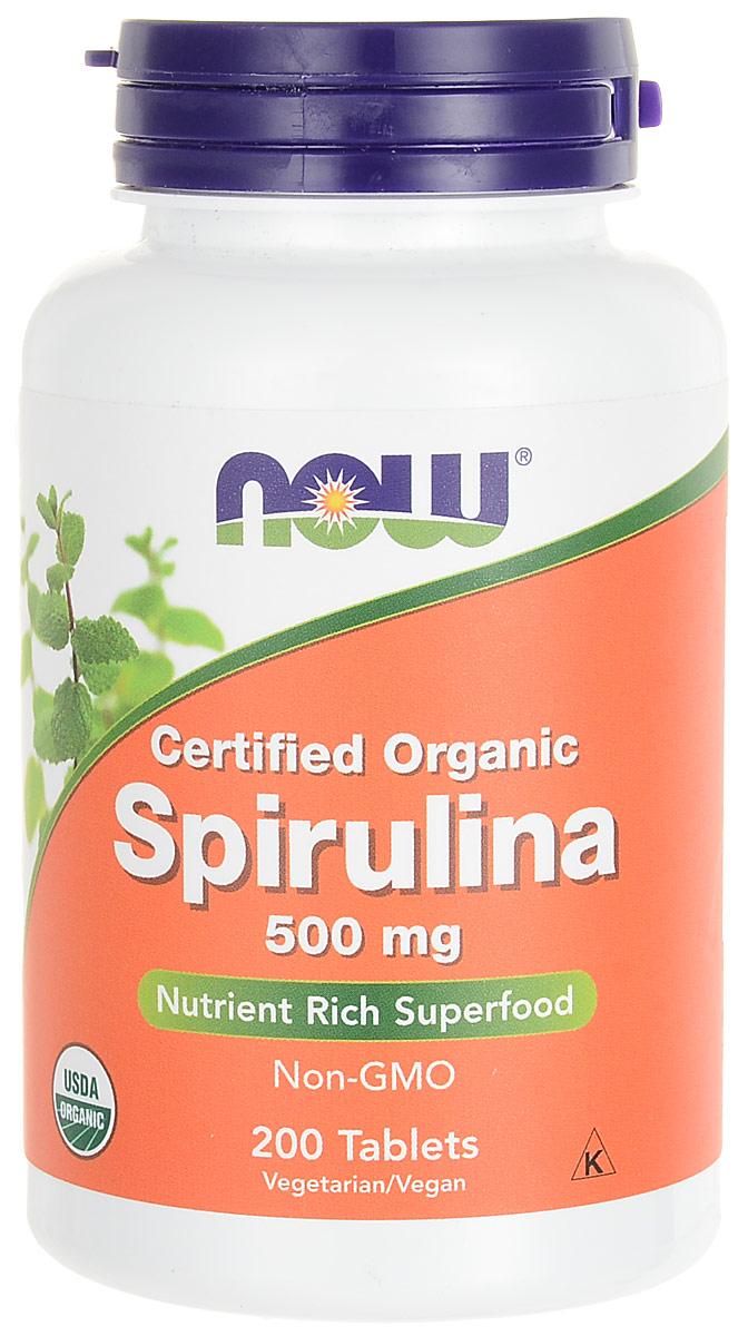 Пробиотик Now Foods Nutrition  Spirulina , 500 мг, 200 таблеток - Витамины, минералы, комплексы