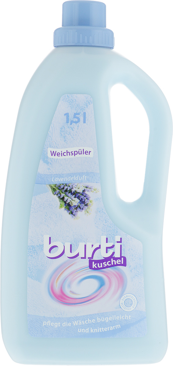 Кондиционер-ополаскиватель для белья Burti Kushel, с ароматом лаванды, 1,5 л531-402Кондиционер-ополаскиватель Burti Kushel бережно ухаживает за волокнами ткани и надежно защищает их, помогая сохранить первозданный вид изделий. Средство смягчает белье и оставляет тонкий приятный аромат лаванды. Облегчают процесс глажения и уменьшают электростатический заряд. Ополаскиватель для белья изготовлен в соответствии с рекомендациями ЕЭС и одобрен дерматологами.Рассчитан на 50 применений. Состав: катионные тензиды, Methylisothiazolinone, Bezisothiazoline, ароматизаторы (Butylphenyl, Methylpropional, Coumarin, Isoeugenol, Linalool), CI 61585. Товар сертифицирован.