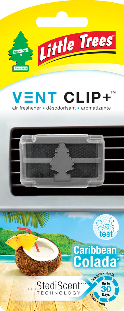 Ароматизатор для дефлектора Little Trees Карибский коктейль. Клип +93287516Освежитель воздуха Little Trees уникален по эффективности действия, насыщенности и стойкости запаха. Подходит для использования в салоне автомобиля, а также в помещениях.