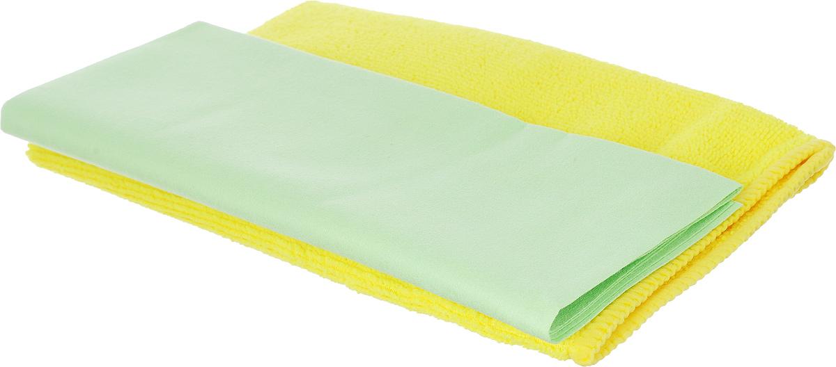 Набор салфеток для ухода за автомобилем Pingo, цвет: желтый, салатовый, 2 штRC-100BWCНабор для ухода за автомобилем Pingo состоит из 2 салфеток: из гладкой микрофибры и из махровой микрофибры. Салфетки идеальны для чистки лобового стекла, пластика и хрома, обивки сидений, кузова автомобиля. Подходят для влажной и сухой уборки. Могут быть использованы без химических средств, отлично впитывают воду, пыль и грязь. Размер салфеток: 40 х 36 см; 32 х 32 см.