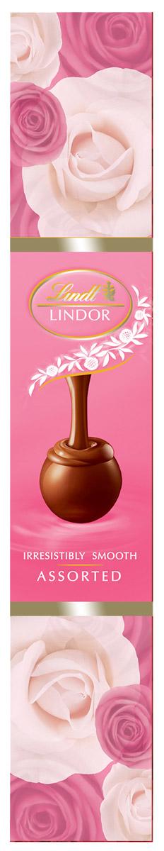 Lindt Линдор Конфеты из белого шоколада Клубника и сливки, 75 г0120710Конфеты из белого шоколада с клубникой, сливками и нежной, тающей начинкой.