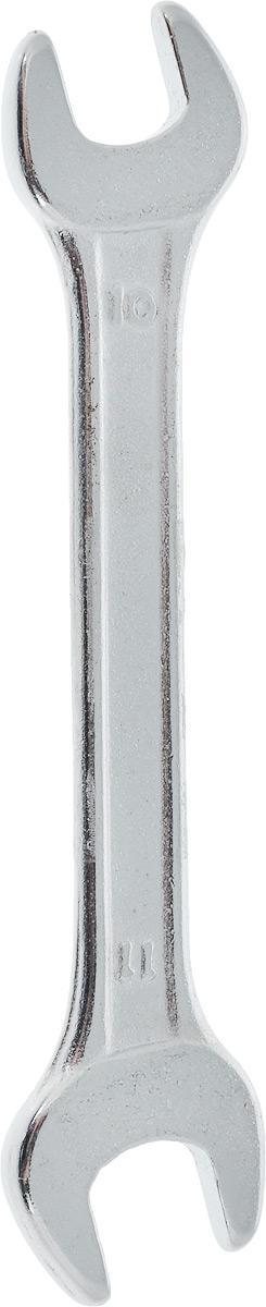 Ключ рожковый Helfer, 10 х 11 смYT-4926Рожковый ключ Helfer станет отличным помощником монтажнику или владельцу авто. Этот инструмент обеспечит надежную фиксацию на гранях крепежа. Специальная углеродистая сталь повышает прочность и износ инструмента.Длина ключа: 11 см.Размеры ключа: 10 мм; 11 мм.