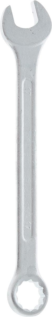 Ключ гаечный комбинированный Helfer, 17 ммFS-80423Комбинированный ключ Helfer предназначен для работы с резьбовыми соединениями. Разрезные головки ключей обеспечивают надежный обхват детали и большой крутящий момент. Размеры зева (отверстия) отвечают всем стандартам. Ключ выполнен из углеродистой стали, которая отличается повышенной прочностью.Такой инструмент станет отличным помощником монтажнику или владельцу авто. Длина ключа: 21 см.Диаметр головки: 17 мм.