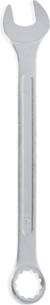 Ключ гаечный комбинированный Helfer, 14 мм98298123_черныйКомбинированный ключ Helfer предназначен для работы с резьбовыми соединениями. Разрезные головки ключей обеспечивают надежный обхват детали и большой крутящий момент. Размеры зева (отверстия) отвечают всем стандартам. Ключ выполнен из углеродистой стали, которая отличается повышенной прочностью.Такой инструмент станет отличным помощником монтажнику или владельцу авто. Длина ключа: 18 см.Диаметр головки: 14 мм.