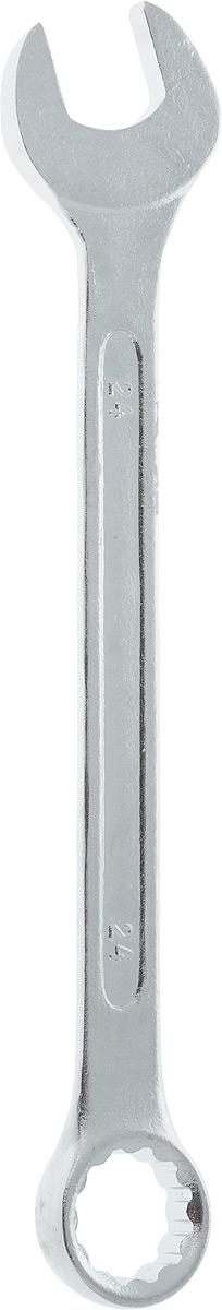 Ключ гаечный комбинированный Helfer, 24 ммHF002018Комбинированный ключ Helfer предназначен для работы с резьбовыми соединениями. Разрезные головки ключей обеспечивают надежный обхват детали и большой крутящий момент. Размеры зева (отверстия) отвечают всем стандартам. Ключ выполнен из углеродистой стали, которая отличается повышенной прочностью.Такой инструмент станет отличным помощником монтажнику или владельцу авто. Длина ключа: 28 см.Диаметр головки: 24 мм.