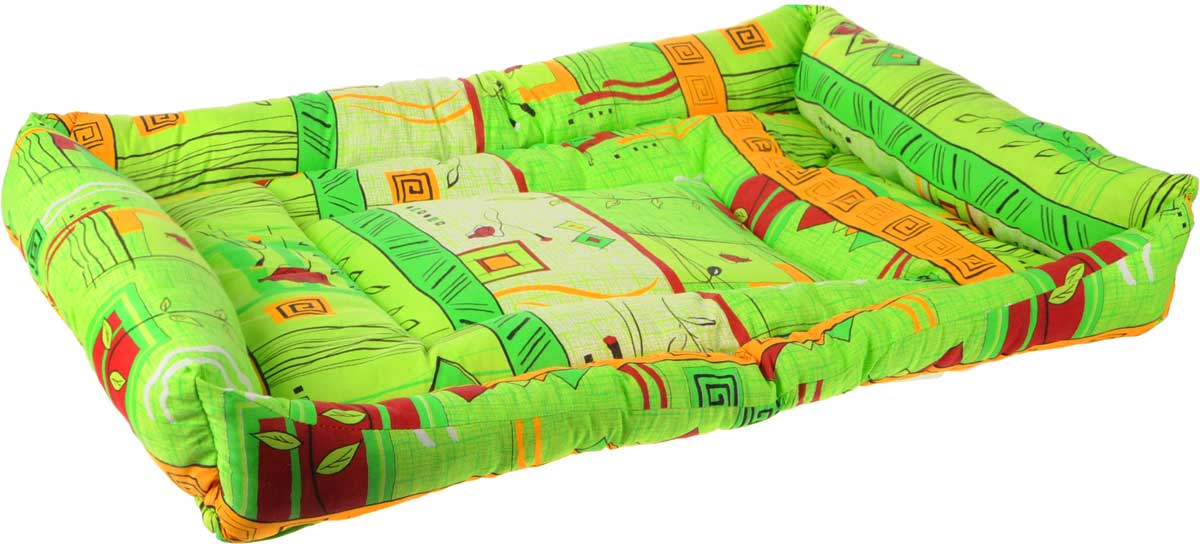 Лежак для животных Elite Valley Пуфик, цвет: салатовый, оранжевый, 90 х 70 х 18 см. Л-4/5Л-4/5_салатовый, оранжевыйМягкий и уютный лежак Elite Valley Пуфик обязательно понравится вашему питомцу. Он выполнен из высококачественной бязи, а наполнитель - холлофайбер. Такой материал не теряет своей формы долгое время. Борта и встроенный матрас обеспечат вашему любимцу уют.Мягкий лежак станет излюбленным местом вашего питомца, подарит ему спокойный и комфортный сон, а также убережет вашу мебель от многочисленной шерсти.