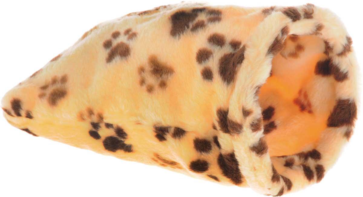 Лежак для животных Elite Valley Мешок, цвет: желтый, коричневый, светло-коричневый, 20 х 20 х 40 см0120710Необычный лежак Elite Valley Мешок станет лучшим подарком для вашего любимца. Изделие выполнено из искусственного меха и оснащен внутри металлическим кольцом.Мягкий, теплый мешок надолго привлечет внимание животного, обеспечит интересным времяпровождением, а также даст возможность прятаться внутри от холода и посторонних взглядов.