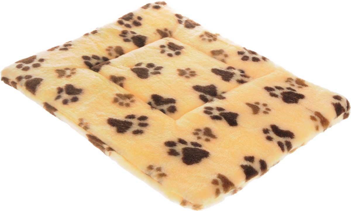Лежак для животных Elite Valley Матрасик, цвет: желтый, коричневый, 55 х 40 см. Л-8/40120710Лежак для животных Elite Valley Матрасик изготовлен из искусственного меха, наполнитель - поролон. Идеален для переносок и использования в автомобиле. Он станет излюбленным местом вашего питомца, подарит ему спокойный и комфортный сон. Высота матраса: 2,5 см.