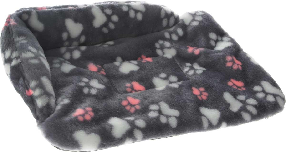 Лежак для животных Elite Valley Софа, цвет: темно-серый, белый, розовый, 50 х 38 х 12 см. Л-6/28418-1Лежак для животных Elite Valley Софа изготовлен из искусственного меха и нетканого материала, наполнитель - холлофайбер. Он станет излюбленным местом вашего питомца, подарит ему спокойный и комфортный сон, а также убережет вашу мебель от многочисленной шерсти. На таком лежаке вашему любимцу будет мягко и тепло.