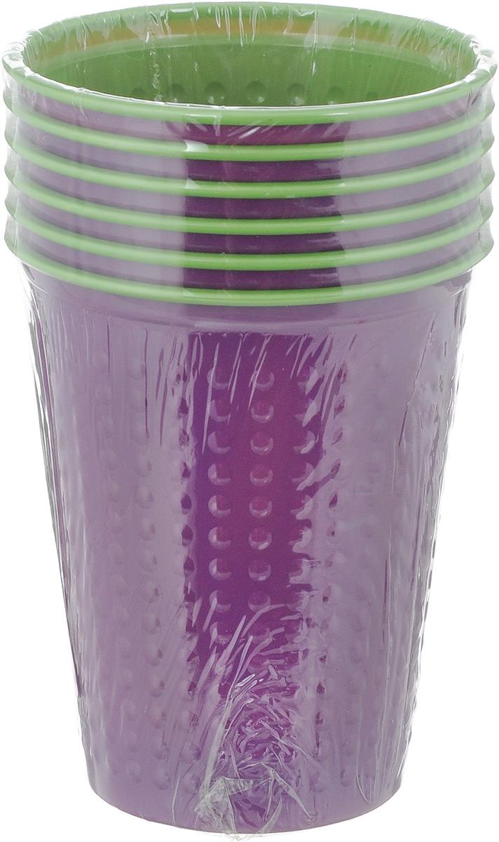 Набор одноразовых стаканов Buffet Biсolor, цвет: фиолетовый, зеленый, 200 мл, 6 шт. 181105183600Набор Buffet Biсolor состоит из 6 стаканов, выполненных из полистирола и предназначенных для одноразового использования.Одноразовые стаканы будут незаменимы при поездках на природу, пикниках и других мероприятиях. Они не займут много места, легки и самое главное - после использования их не надо мыть.Диаметр стакана (по верхнему краю): 7 см.Высота стакана: 8 см.Объем: 200 мл.