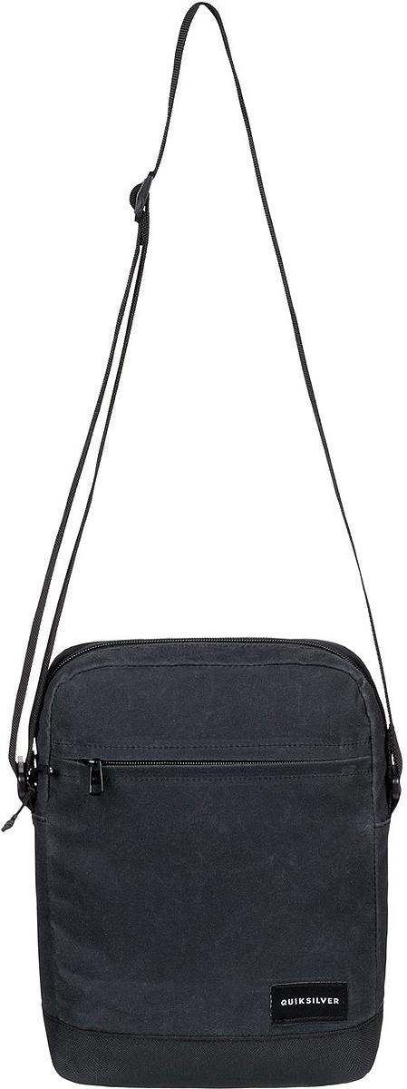 Сумка на плечо мужская Quiksilver Magic XL, цвет: черный. EQYBA03067-KVAWГризлиМужская сумка на плечо Quiksilver выполнена из полиэстера. Модель с одним основным отделением застегивается на молнию, передняя стенка дополнена карманом на молнии. У изделия регулируемая по длине плечевая лямка.