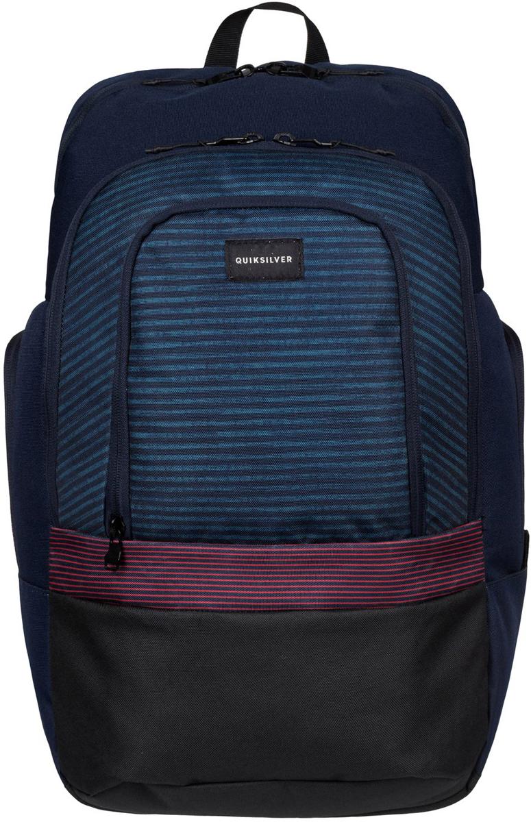 Рюкзак мужской Quiksilver 1969 Special, цвет: синий. EQYBP03270-RQR32582-1белыеРюкзак выполнен из полиэстера. Модель с двумя отделениями. Передний и два боковых кармана на молнии. Рюкзак оснащен регулируемыми по длине плечевыми лямками.