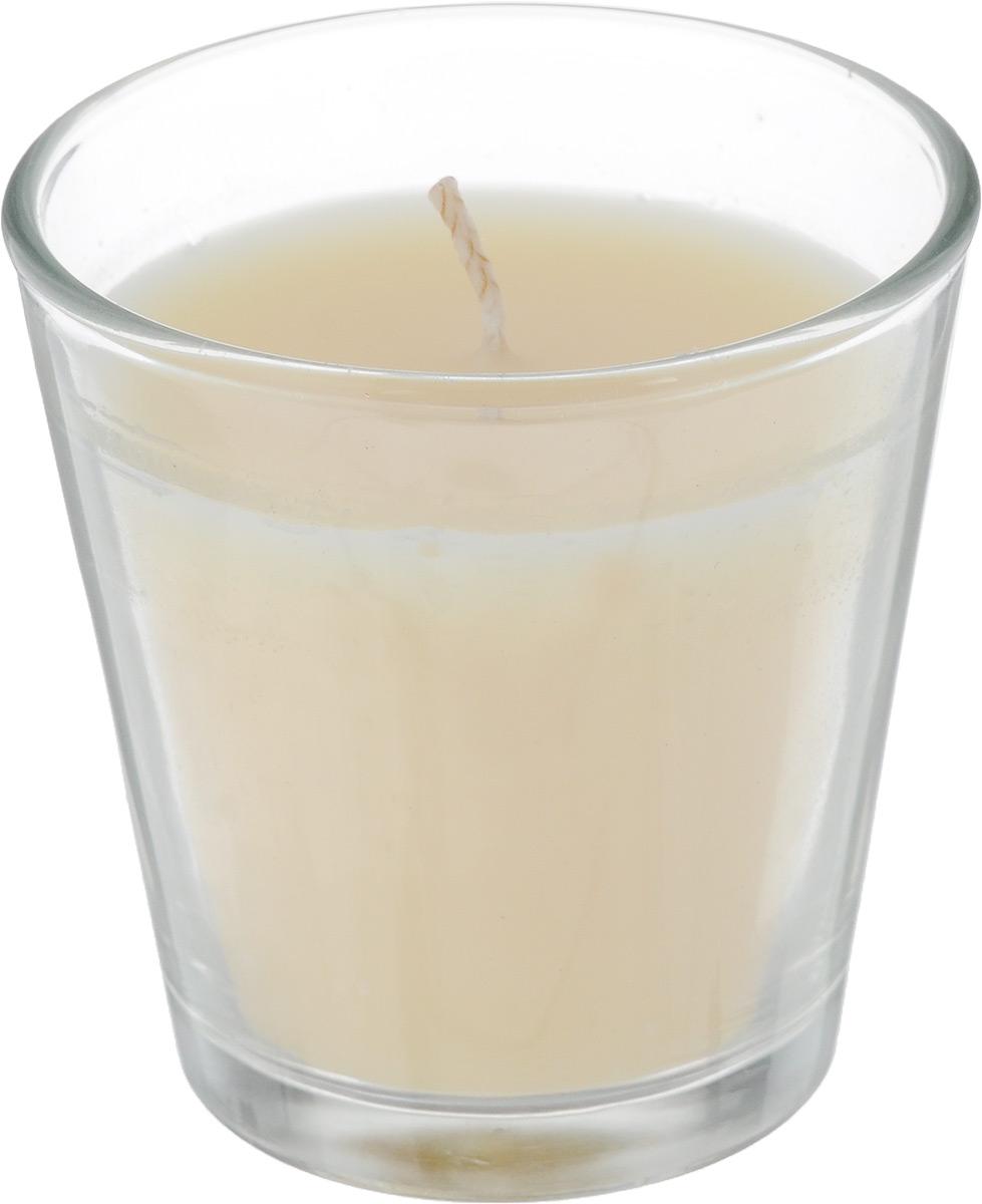 Свеча ароматическая Омский cвечной завод Ваниль, высота 6,5 см337461Ароматизированная свеча Омский cвечной завод Ваниль, изготовленная из парафина, воска и хлопка, поставляется в стеклянном подсвечнике в виде стакана. Изделие отличается оригинальным дизайном и приятным ароматом. Такая свеча может стать отличным подарком или дополнить интерьер вашей комнаты.