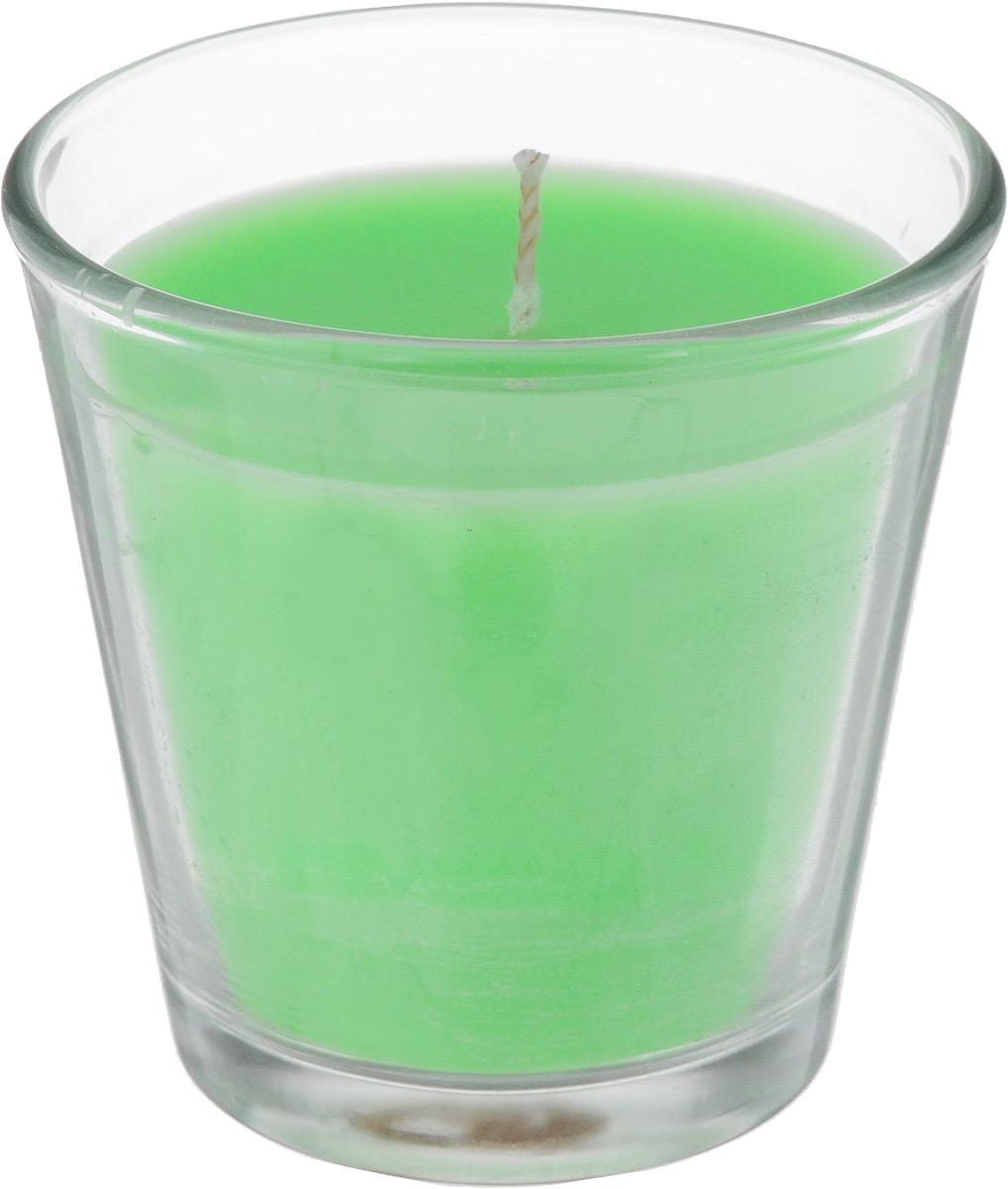 Свеча ароматическая Омский cвечной завод Яблоко, высота 6,5 см8812Ароматизированная свеча Омский cвечной завод Яблоко, изготовленная из парафина, воска и хлопка, поставляется в стеклянном подсвечнике в виде стакана. Изделие отличается оригинальным дизайном и приятным ароматом. Такая свеча может стать отличным подарком или дополнить интерьер вашей комнаты.