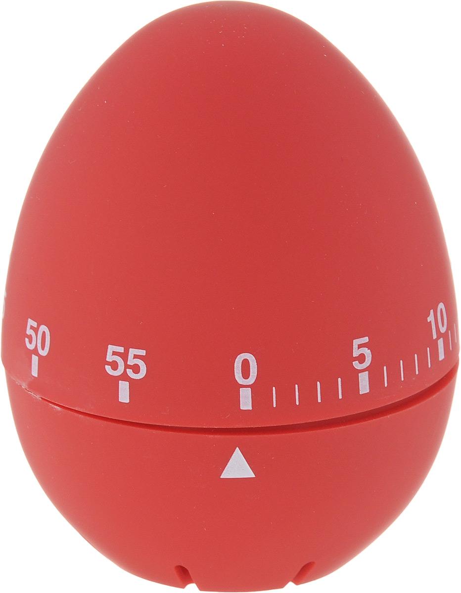 Таймер кухонный Zeller Яйцо, на 60 мин, цвет: красный