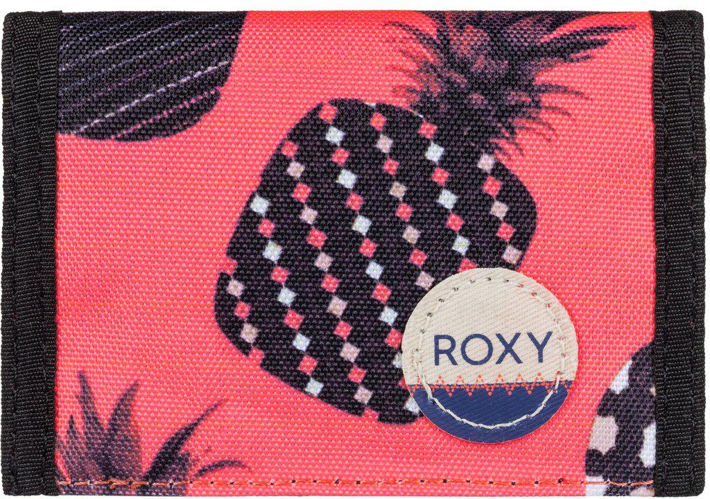 Кошелек женский Roxy Small Beach, цвет: оранжевый, синий. ERJAA03215-NKN61-022_516Женский кошелек от Roxy выполнен из полиэстера и оформлен оригинальным принтом. У модели складной дизайн, три секции, кармашек для мелочи на молнии, много отделений для карточек, отделение для банкнот. Застегивается на липучку Velcro, дополнен хлопчатобумажной нашивкой с логотипом.