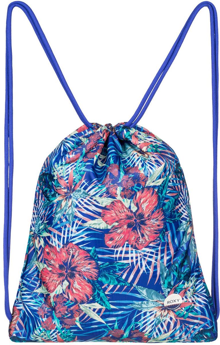 Рюкзак женский Roxy Light As a Feat, цвет: голубой. ERJBP03394-PQF6L39845800Женский рюкзак выполнен из текстиля. Модель с одним отделением, застегивается при помощи затягивающегося шнурка. Изделие оснащено тонкими плечевыми лямками.