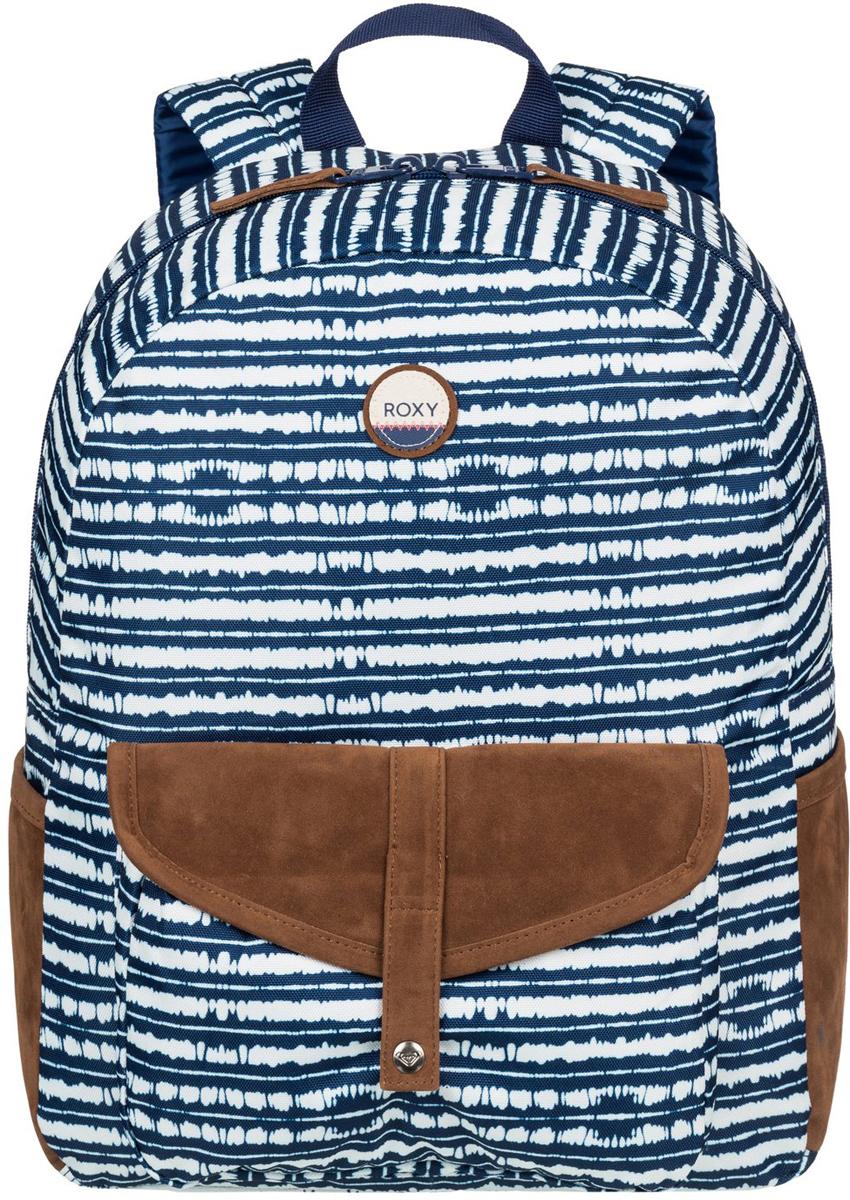 Рюкзак женский Roxy Carribean, цвет: синий. ERJBP03399-BTA3101225Женский рюкзак Roxy выполнен из текстиля. У модели одно основное отделение. Передний карман на молнии. Рюкзак с регулируемыми по длине плечевыми лямками и петлей для подвешивания.