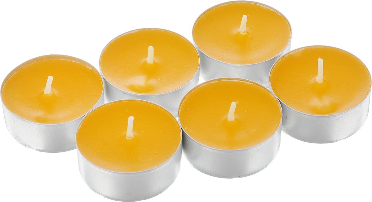Набор свечей Омский cвечной завод Апельсин, ароматизированные, диаметр 3,8 см, 6 штU210DFНабор Омский свечной завод Апельсин состоит из 6 круглых свечей с ароматом апельсина, изготовленных из парафина.Первичный парафин в составе свечей обеспечивает качество горения (выгорает полностью). При горении не трещат, не появляются искры.Такой набор украсит интерьер вашего дома или офиса и наполнит его атмосферу теплом и уютом.Примерное время горения: 3 часа. Диаметр свечи: 3,8 см. Высота: 1,5 см.