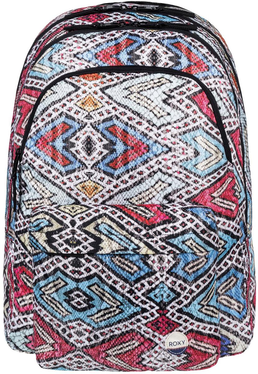 Рюкзак женский Roxy Slow Emotion, цвет: синий, красный. ERJBP03402-BLA68-2Женский рюкзак Roxy выполнен из текстиля. У модели три основных отделения. Передний и боковые карманы на молнии. Рюкзак с регулируемыми по длине плечевыми лямками и петлей для подвешивания.