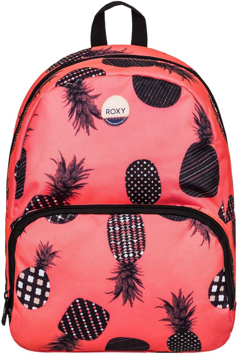 Рюкзак женский Roxy Always Core, цвет: оранжевый. ERJBP03403-NKN6RivaCase 8460 blackЖенский рюкзак Roxy выполнен из текстиля. У модели одно основное отделение. Передний карман на молнии. Рюкзак с регулируемыми набивными заплечными ремнями.