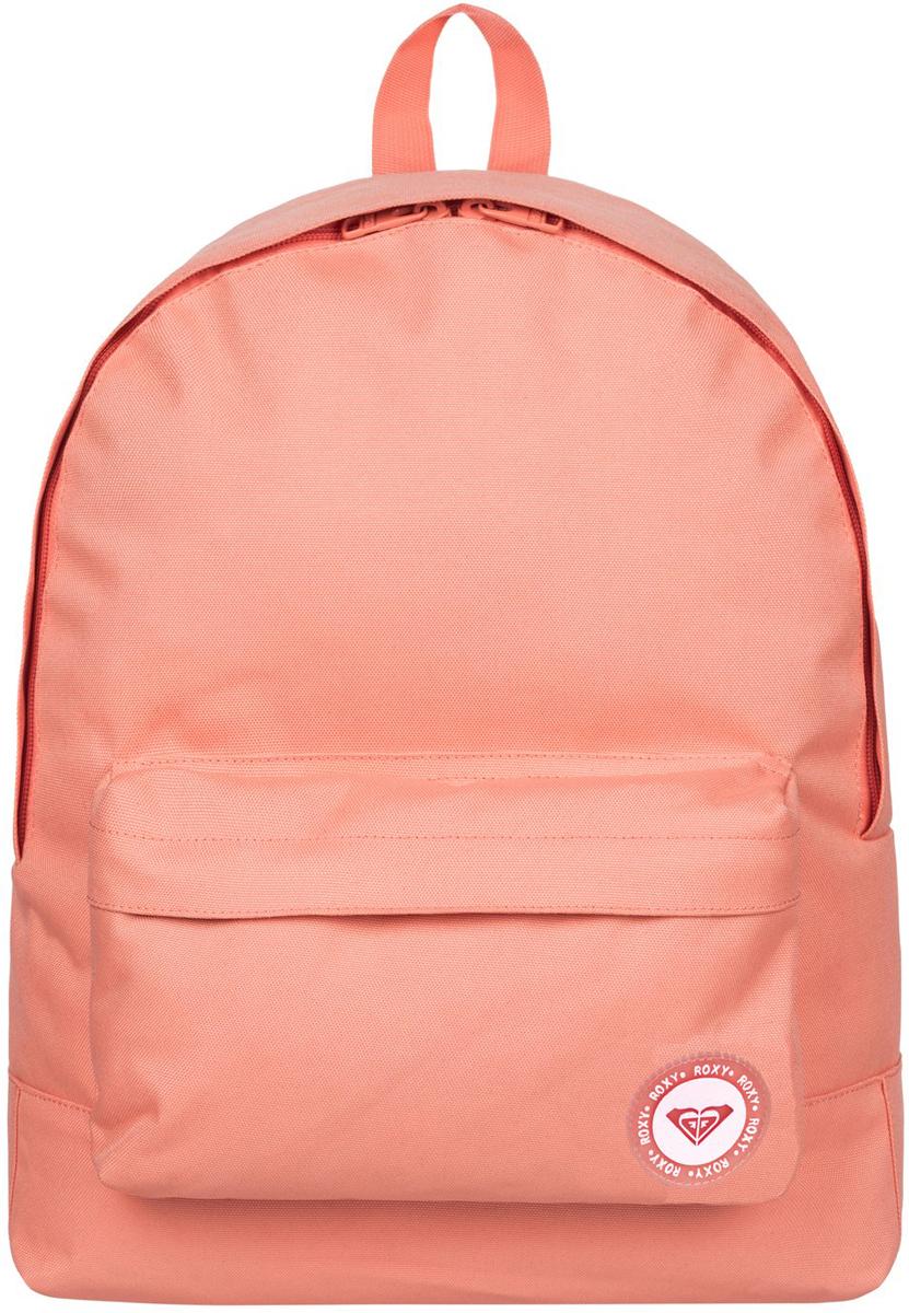 Рюкзак женский Roxy Sugar Baby, цвет: розовый. ERJBP03404-MCZ010130-11Женский рюкзак Roxy выполнен из текстиля. У модели одно основное отделение. Передний карман на молнии. Рюкзак с регулируемыми набивными заплечными ремнями.