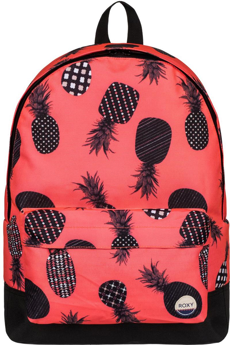 Рюкзак женский Roxy Sugar Baby, цвет: оранжевый. ERJBP03406-NKN623008Женский рюкзак Roxy Sugar Baby выполнен из текстиля. У модели одно основное отделение. Передний карман на молнии. Рюкзак с регулируемыми набивными заплечными ремнями.