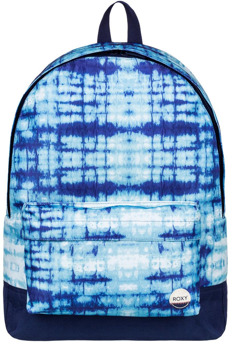 Рюкзак женский Roxy Sugar Baby, цвет: голубой. ERJBP03406-WBT7S76245Женский рюкзак Roxy выполнен из текстиля. У модели одно основное отделение. Передний карман на молнии. Рюкзак с регулируемыми по длине плечевыми лямками и петлей для подвешивания.