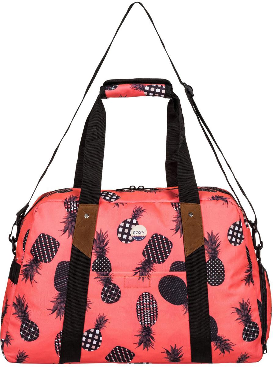 Сумка женская Roxy Sugar It Up, цвет: оранжевый. ERJBP03410-NKN6EQW-M710DB-1A1Женская сумка на плечо от Roxy выполнена из полиэстера. Модель застегивается на молнию, дополнена боковым карманом для обуви и накладным карманом на передней стенке, ручкой для переноски в руках с мягким чехлом на липучке Velcro, сеточными вставками и хлопчатобумажной нашивкой. Заплечная лямка съемная и регулируемая в длину.
