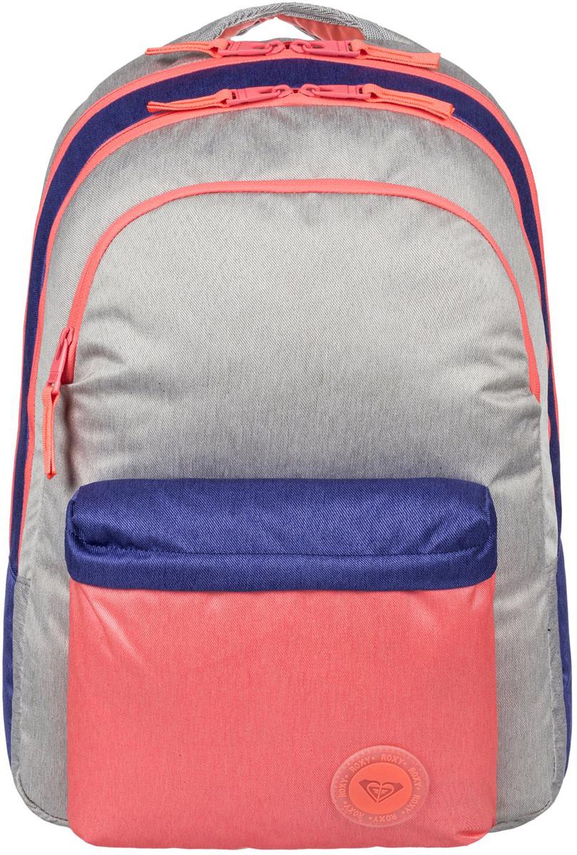 Рюкзак женский Roxy Slow Emotion, цвет: мультиколор. ERJBP03472-MCZ0S76245Женский рюкзак Roxy выполнен из текстиля. У модели три основных отделения. Передний и боковые карманы на молнии. Рюкзак с регулируемыми по длине плечевыми лямками и петлей для подвешивания.
