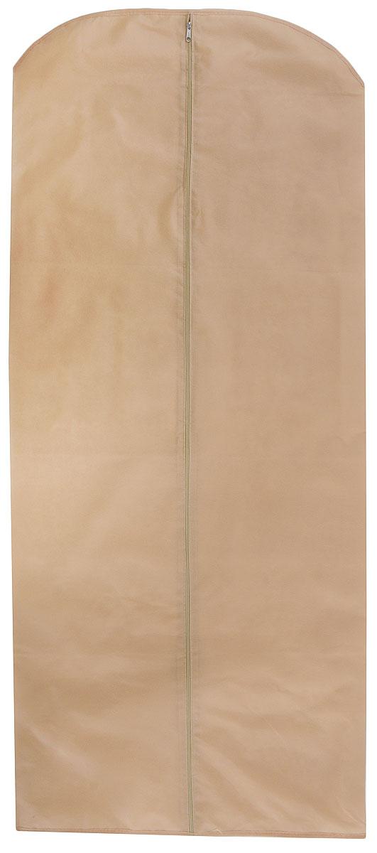 Чехол для одежды Eva, цвет: бежевый, 65 х 150 см. Е1703615-885Чехол для одежды Eva изготовлен из высококачественного полипропилена. Особое строение полотна создает естественную вентиляцию: материал дышит и позволяет воздуху свободно проникать внутрь чехла, не пропуская пыль. Благодаря форме чехла, одежда не мнется даже при длительном хранении. Застегивается на молнию.Чехол для одежды будет очень полезен при транспортировке вещей на близкие и дальние расстояния, при длительном хранении сезонной одежды, а также при ежедневном хранении вещей из деликатных тканей. Чехол для одежды Eva не только защитит ваши вещи от пыли и влаги, но и поможет доставить одежду на любое мероприятие в идеальном состоянии.