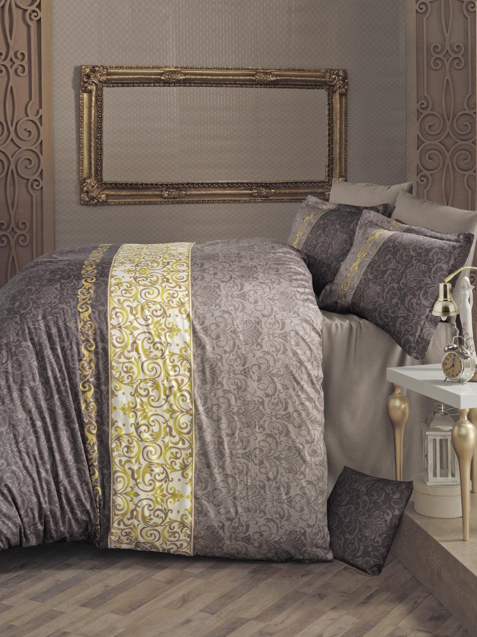Комплект белья Clasy Mirace, 1,5-спальный, наволочки 50х70, цвет: коричневый391602Комплект постельного белья Clasy Mirace изготовлен в Турции из высококачественного сатина на одной из ведущих фабрик.Выбирая постельное белье Clasy Mirace вы будете приятно удивлены качественной выделкой ткани, красивыми и модными расцветками, а так же его отличным качеством. Все наволочки у комплектов Clasy Mirace имеют клапан без пуговиц и молнии. Пододеяльник с пуговицами.