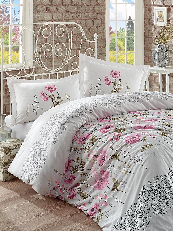Комплект белья Clasy Vera, евро, наволочки 50х70, цвет: белый, лиловый, зеленый68/5/3Комплект постельного белья Clasy Vera изготовлен в Турции из высококачественного ранфорса на одной из ведущих фабрик.Выбирая постельное белье Clasy Vera вы будете приятно удивлены качественной выделкой ткани, красивыми и модными расцветками, а так же его отличным качеством. Все наволочки у комплектов Clasy Vera имеют клапан без пуговиц и молнии. Пододеяльник с пуговицами.