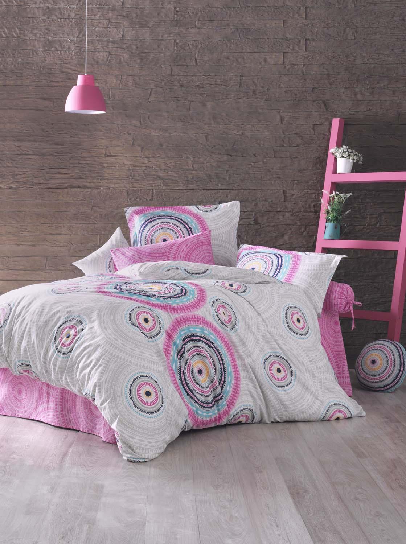 Комплект белья Clasy Sahara, евро, наволочки 50х70, цвет: белый, розовый, серыйCLP446Комплект постельного белья Clasy Sahara изготовлен в Турции из высококачественного ранфорса на одной из ведущих фабрик.Выбирая постельное белье Clasy Sahara вы будете приятно удивлены качественной выделкой ткани, красивыми и модными расцветками, а так же его отличным качеством. Все наволочки у комплектов Clasy Sahara имеют клапан без пуговиц и молнии. Пододеяльник с пуговицами.