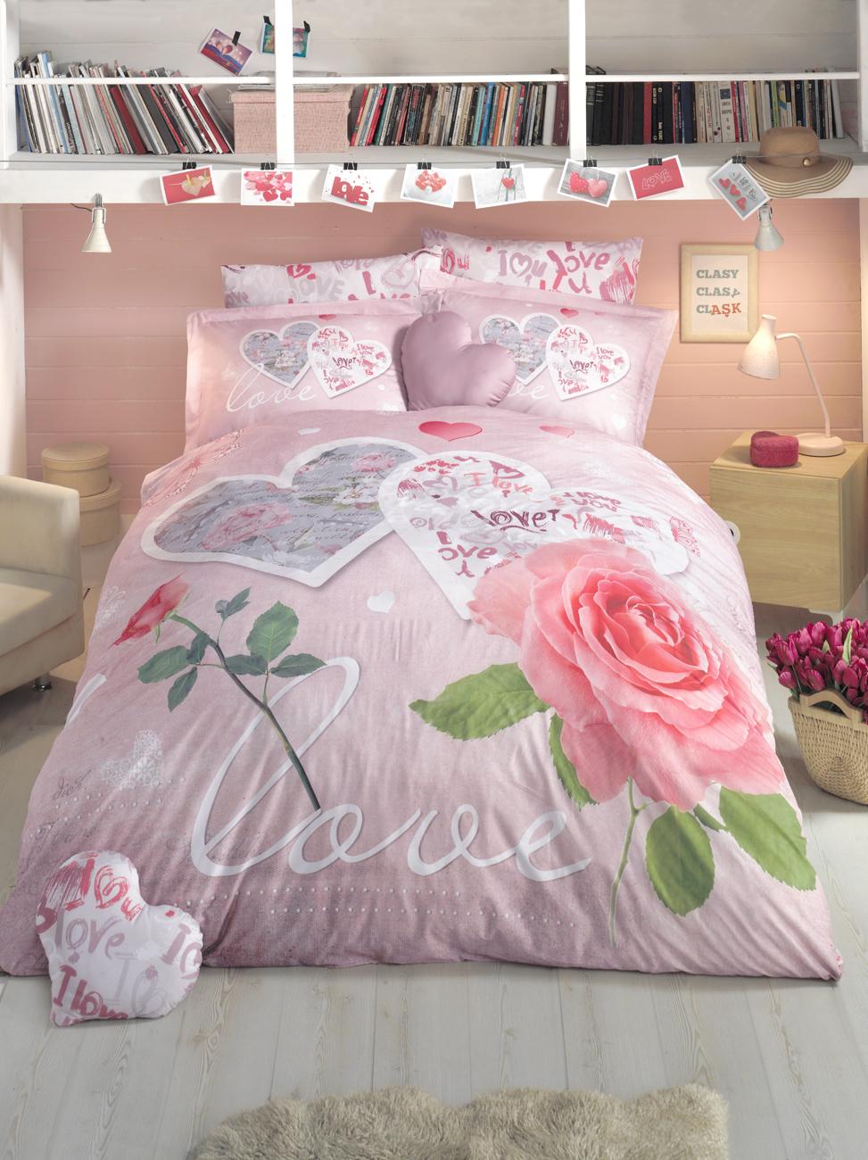 Комплект белья Clasy First Love, евро, наволочки 50х70, цвет: розовый00000005355Комплект постельного белья Clasy First Love изготовлен в Турции из высококачественного ранфорса на одной из ведущих фабрик.Выбирая постельное белье Clasy First Love вы будете приятно удивлены качественной выделкой ткани, красивыми и модными расцветками, а так же его отличным качеством. Все наволочки у комплектов Clasy First Love имеют клапан без пуговиц и молнии. Пододеяльник с пуговицами.
