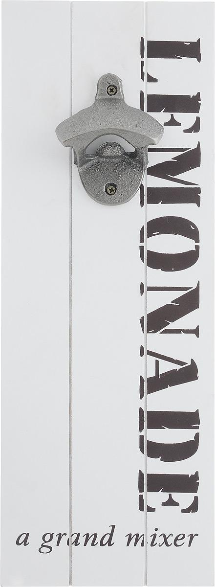 Открывалка для бутылок Miralight, декоративная, цвет: белый, 35,5 х 13 х 4 см54 009312Декоративная открывалка для бутылок Miralight, изготовленная из металла, МДФ и полирезина, предназначена для украшения интерьера. Изделие выполнено в виде панели с надписями. На оборотной стороне имеется петля для подвешивания на стену. Также такая открывалка поможет вам без труда открыть любую бутылку. Этот оригинальный аксессуар станет оригинальным подарком для близких. Размер открывалки: 35,5 х 13 х 4 см.