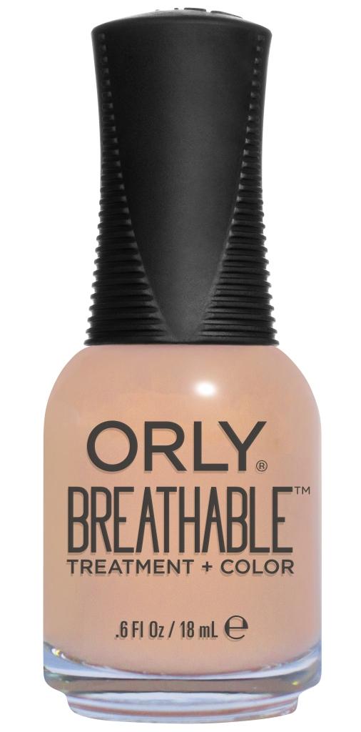 Orly Профессиональный дышащий уход (цвет) за ногтями 907 NOURISHING NUDE 18 млУТ000000909Бренд ORLY разработал первый профессиональный цветной дышащий уход за ногтями BREATHABLE. Инновационная дышащая технология BREATHABLE создаёт на ногте проницаемую пленку, позволяющую кислороду, влаге и активным ингредиентам препарата достигать поверхности ногтя. BREATHABLE от ORLY — уход и цвет в одном флаконе!Преимущества BREATHABLE от ORLY: 1. Способствует росту и укреплению ногтей благодаря дышащей технологии и формуле с аргановым маслом, витамином С и провитамином В5. 2. Формула «Все в одном» позволяет наносить BREATHABLE без использования базового и верхнего покрытий. 3. Запатентованная плоская кисть для удобного нанесения. · 4. Стойкость.Палитра BREATHABLE от ORLY — это роскошные оттенки и прозрачный блеск-уход для ультраглянца.Стильный маникюр и профессиональный уход – это новинка BREATHABLE от ORLY!