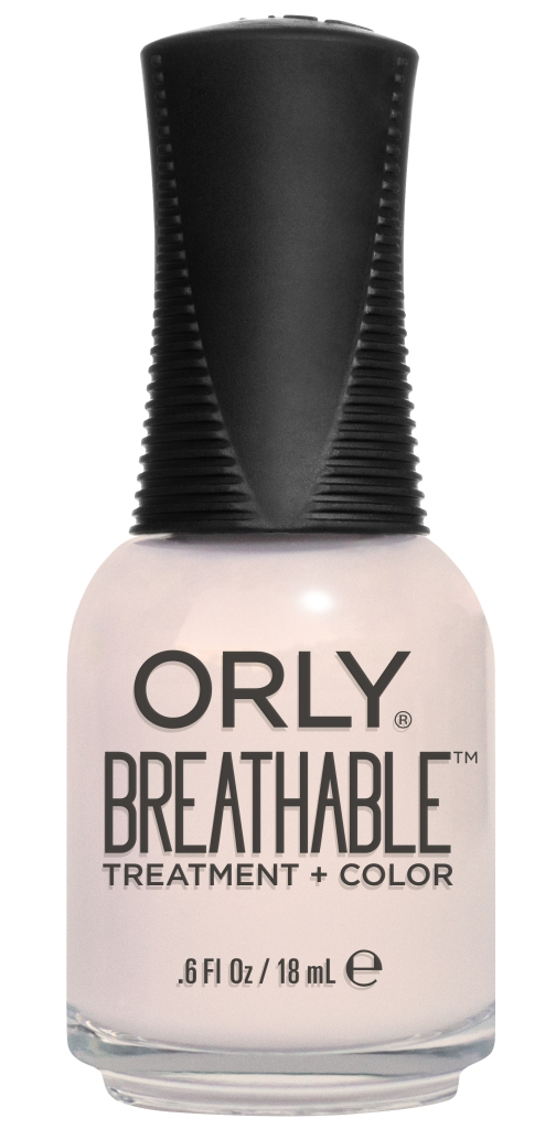Orly Профессиональный дышащий уход (цвет) за ногтями 908 BARELY THERE 18 млB2864100Бренд ORLY разработал первый профессиональный цветной дышащий уход за ногтями BREATHABLE. Инновационная дышащая технология BREATHABLE создаёт на ногте проницаемую пленку, позволяющую кислороду, влаге и активным ингредиентам препарата достигать поверхности ногтя. BREATHABLE от ORLY — уход и цвет в одном флаконе!Преимущества BREATHABLE от ORLY: 1. Способствует росту и укреплению ногтей благодаря дышащей технологии и формуле с аргановым маслом, витамином С и провитамином В5. 2. Формула «Все в одном» позволяет наносить BREATHABLE без использования базового и верхнего покрытий. 3. Запатентованная плоская кисть для удобного нанесения. · 4. Стойкость.Палитра BREATHABLE от ORLY — это роскошные оттенки и прозрачный блеск-уход для ультраглянца.Стильный маникюр и профессиональный уход – это новинка BREATHABLE от ORLY!
