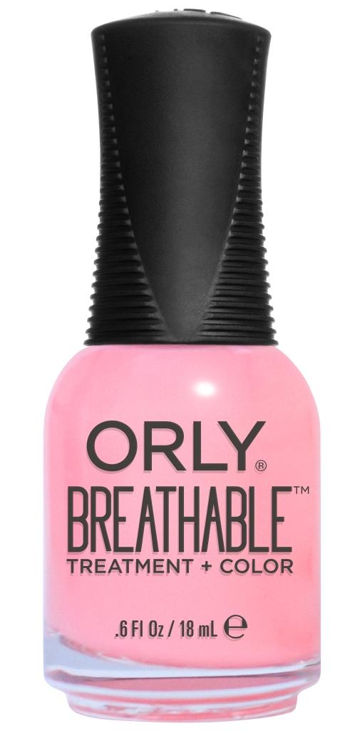 Orly Профессиональный дышащий уход (цвет) за ногтями 910 HAPPY & HEALTHY 18 млPMB 0805Бренд ORLY разработал первый профессиональный цветной дышащий уход за ногтями BREATHABLE. Инновационная дышащая технология BREATHABLE создаёт на ногте проницаемую пленку, позволяющую кислороду, влаге и активным ингредиентам препарата достигать поверхности ногтя. BREATHABLE от ORLY — уход и цвет в одном флаконе!Преимущества BREATHABLE от ORLY: 1. Способствует росту и укреплению ногтей благодаря дышащей технологии и формуле с аргановым маслом, витамином С и провитамином В5. 2. Формула «Все в одном» позволяет наносить BREATHABLE без использования базового и верхнего покрытий. 3. Запатентованная плоская кисть для удобного нанесения. · 4. Стойкость.Палитра BREATHABLE от ORLY — это роскошные оттенки и прозрачный блеск-уход для ультраглянца.Стильный маникюр и профессиональный уход – это новинка BREATHABLE от ORLY!