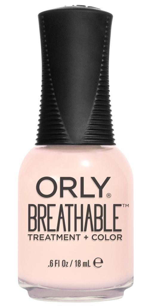 Orly Профессиональный дышащий уход (цвет) за ногтями 914 REHAB 18 млУТ000000909Бренд ORLY разработал первый профессиональный цветной дышащий уход за ногтями BREATHABLE. Инновационная дышащая технология BREATHABLE создаёт на ногте проницаемую пленку, позволяющую кислороду, влаге и активным ингредиентам препарата достигать поверхности ногтя. BREATHABLE от ORLY — уход и цвет в одном флаконе!Преимущества BREATHABLE от ORLY: 1. Способствует росту и укреплению ногтей благодаря дышащей технологии и формуле с аргановым маслом, витамином С и провитамином В5. 2. Формула «Все в одном» позволяет наносить BREATHABLE без использования базового и верхнего покрытий. 3. Запатентованная плоская кисть для удобного нанесения. · 4. Стойкость.Палитра BREATHABLE от ORLY — это роскошные оттенки и прозрачный блеск-уход для ультраглянца.Стильный маникюр и профессиональный уход – это новинка BREATHABLE от ORLY!