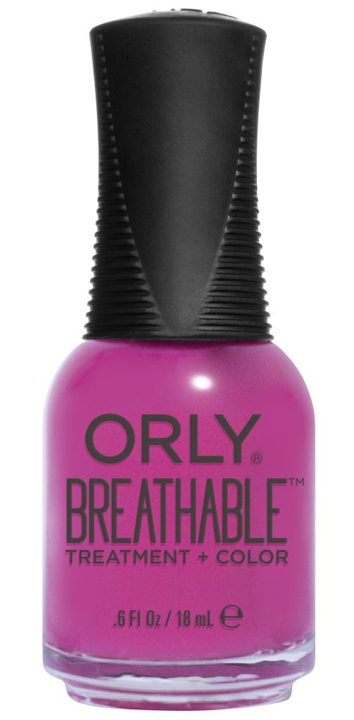 Orly Профессиональный дышащий уход (цвет) за ногтями 915 GIVE ME A BREAK 18 млУТ000000909Бренд ORLY разработал первый профессиональный цветной дышащий уход за ногтями BREATHABLE. Инновационная дышащая технология BREATHABLE создаёт на ногте проницаемую пленку, позволяющую кислороду, влаге и активным ингредиентам препарата достигать поверхности ногтя. BREATHABLE от ORLY — уход и цвет в одном флаконе!Преимущества BREATHABLE от ORLY: 1. Способствует росту и укреплению ногтей благодаря дышащей технологии и формуле с аргановым маслом, витамином С и провитамином В5. 2. Формула «Все в одном» позволяет наносить BREATHABLE без использования базового и верхнего покрытий. 3. Запатентованная плоская кисть для удобного нанесения. · 4. Стойкость.Палитра BREATHABLE от ORLY — это роскошные оттенки и прозрачный блеск-уход для ультраглянца.Стильный маникюр и профессиональный уход – это новинка BREATHABLE от ORLY!