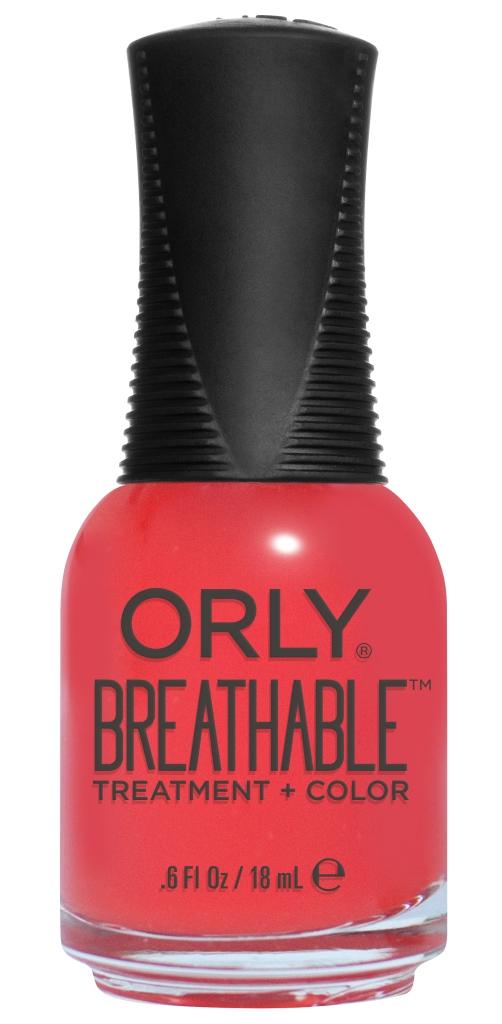 Orly Профессиональный дышащий уход (цвет) за ногтями 916 BEAUTY ESSENTIAL 18 мл5010777139655Бренд ORLY разработал первый профессиональный цветной дышащий уход за ногтями BREATHABLE. Инновационная дышащая технология BREATHABLE создаёт на ногте проницаемую пленку, позволяющую кислороду, влаге и активным ингредиентам препарата достигать поверхности ногтя. BREATHABLE от ORLY — уход и цвет в одном флаконе!Преимущества BREATHABLE от ORLY: 1. Способствует росту и укреплению ногтей благодаря дышащей технологии и формуле с аргановым маслом, витамином С и провитамином В5. 2. Формула «Все в одном» позволяет наносить BREATHABLE без использования базового и верхнего покрытий. 3. Запатентованная плоская кисть для удобного нанесения. · 4. Стойкость.Палитра BREATHABLE от ORLY — это роскошные оттенки и прозрачный блеск-уход для ультраглянца.Стильный маникюр и профессиональный уход – это новинка BREATHABLE от ORLY!