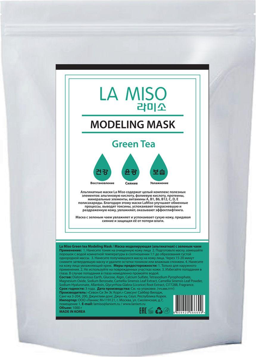La Miso, Маска моделирующая (альгинатная) с зеленым чаем, Green tea, 1000 г8809420566699Альгинатные маски La Miso содержат целый комплекс полезных элементов: альгиновую кислоту, фолиевую кислоту, протеины, минеральные элементы, витамины A, B1, B6, B12, C, D, E полисахариды. Благодаря этому маски La Miso улучшают обменные процессы, выводят токсины, успокаивают покрасневшую и раздраженную кожу, увлажняют, оказывают эффект лифтинга. Маска с зеленым чаем увлажняет и успокаивает сухую кожу, придавая сияние и защищая её от потери влаги.
