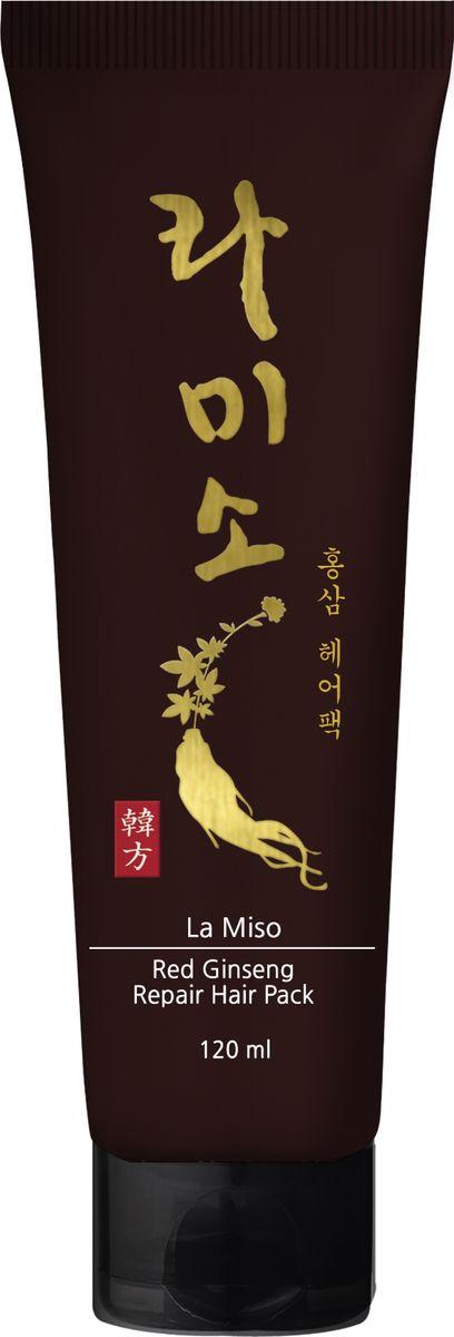 La Miso, Восстанавливающая маска для волос с экстрактом красного женьшеня, Red Ginseng Repair Hair Pack, 120 мл81557372/2611Корень красного корейского женьшеня известен во всем мире благодаря сильному восстанавливающему и укрепляющему эффекту, который он оказывает на организм человека. Восстанавливающая маска для волос с экстрактом красного женьшеня интенсивно питает и увлажняет поврежденные волосы, укрепляя их изнутри. Применение маски возвращает блеск, здоровье и силу тусклым и безжизненным волосам.