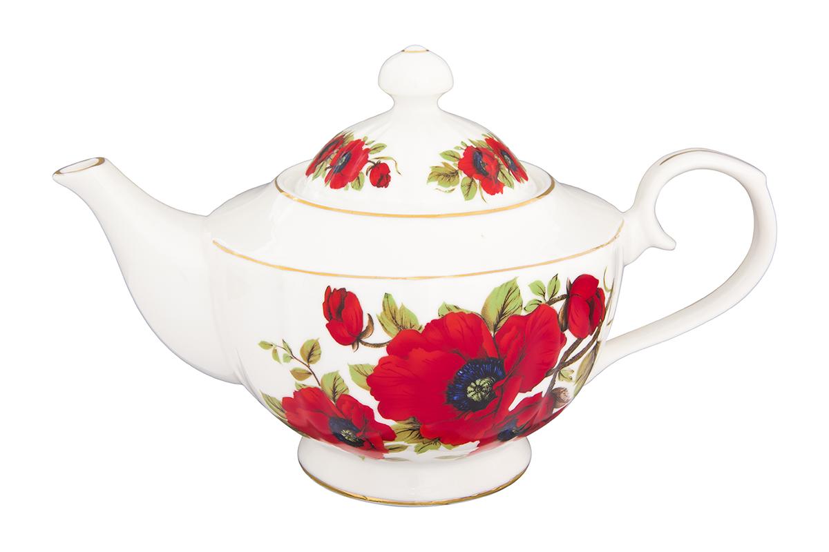 Чайник заварочный Elan Gallery Маки, 1,1 л391602Изысканный заварочный чайник украсит сервировку стола к чаепитию. Благодаря красивому утонченному дизайну и качеству исполнения он станет хорошим подарком друзьям и близким.Изделие в подарочной упаковке.Объем 1,1 л.